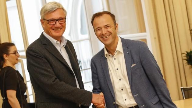 Nach Preuners Wahlsieg wählten die Beamten die Partei von Stadtvize Bernhard Auinger. (Bild: Tschepp Markus)