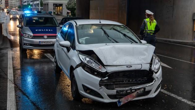 Durch den Unfall kam es zu Verkehrsbehinderungen in der Stadt Salzburg. (Bild: FMT PICTURES)