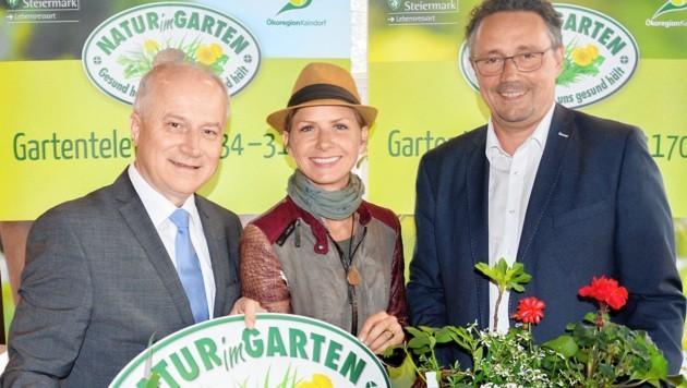 """LR Hans Seitinger, Angelika Ertl-Marko, Thomas Karner - die drei hinter """"Natur im Garten"""" (Bild: Lebensressort)"""