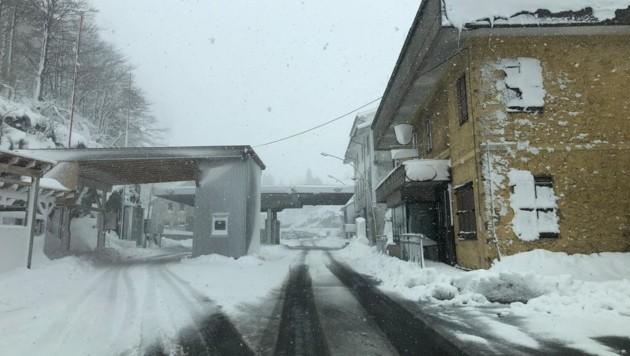 Auch am Plöckenpass schneite es heftig. (Bild: Hannes Wallner)