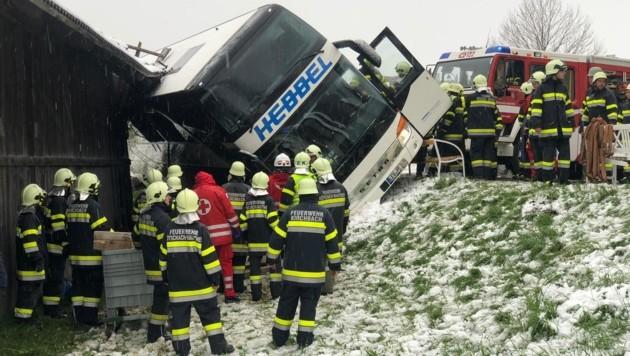 Mehrere Feuerwehren standen im Einsatz. (Bild: Wallner)
