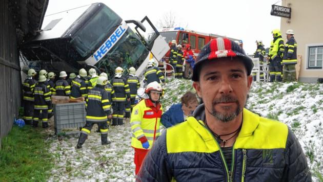 Augenzeuge Klaus Hohenwarter half sofort mit. (Bild: Wallner Hannes)