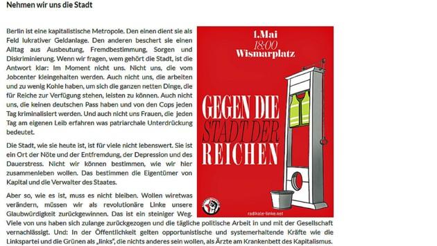 (Bild: Screenshot/Radikale Linke Berlin)