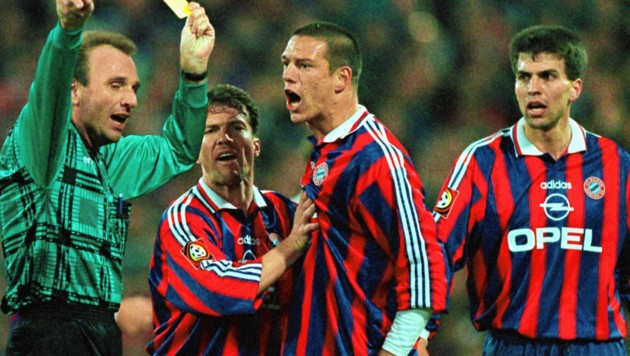 Die Bayern-Stars der Neunziger: Lothar Matthäus, Christian Ziege, Markus Babbel. (Bild: Reuters)