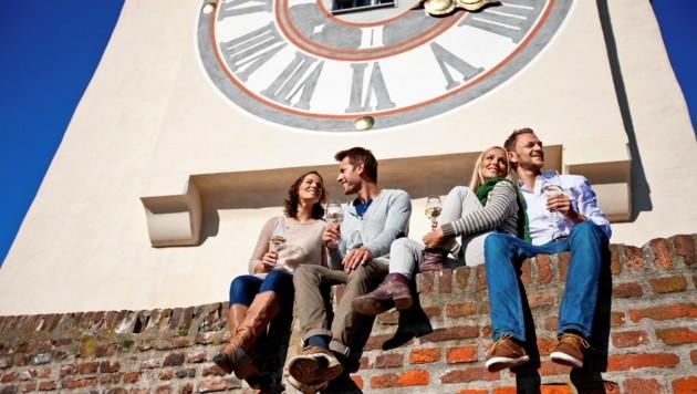 Der Grazer Schloßberg führt die Hitliste der beliebtesten Ausflugsziele erneut an. (Bild: Steiermark Tourismus/ikarus.cc)