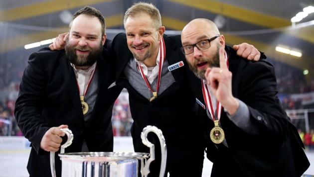 Juha Soronen, Petri Maikainen und Jarno Mensonen (Bild: GEPA)