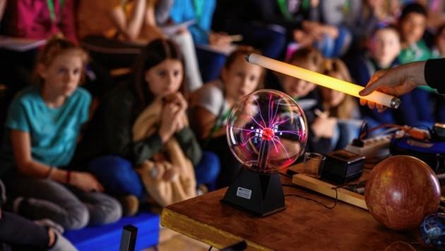 Ferienangebot für Kinder an der Linzer JKU (Bild: Michael Namberger)