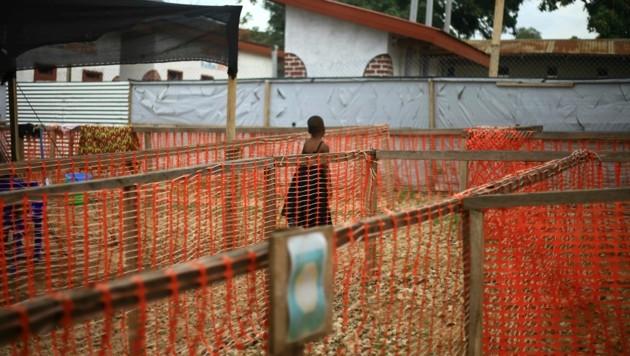 Ein Kind in einer Quarantänestation in Beni, Ost-Kongo (Bild: AP)