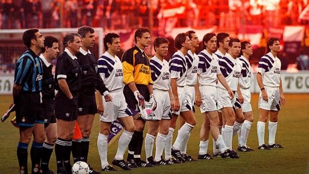 Austria Salzburg vorm UEFA-Cup-Finale 1994 gegen Inter Mailand (Bild: ©Krug Daniel sen)