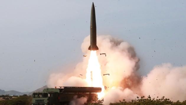 Raketentest in Nordkorea (Bild: AFP)