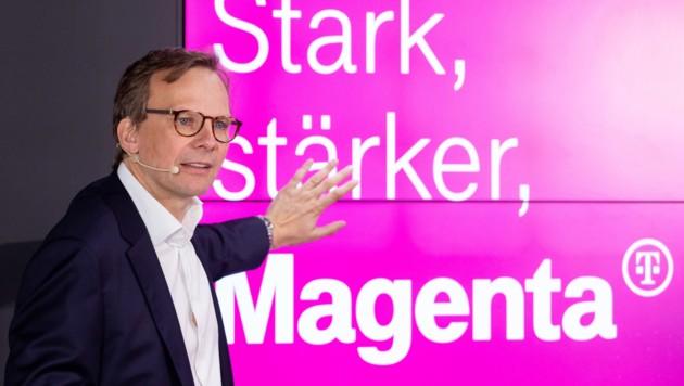 T-Mobile-Vorstand Andreas Bierwirth bei der Präsentation von Magenta (Bild: APA/MAGENTA/MARLENA K…NIG)