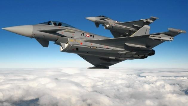 Zwei Eurofighter (Bild: BMLVS/Markus Zinner)
