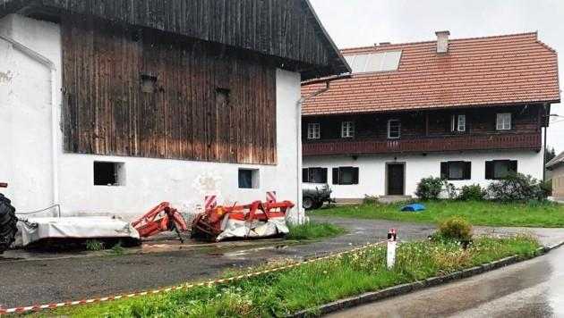 In diesem Stall in St. Nikolai mussten die Rinder verenden. (Bild: zVg)