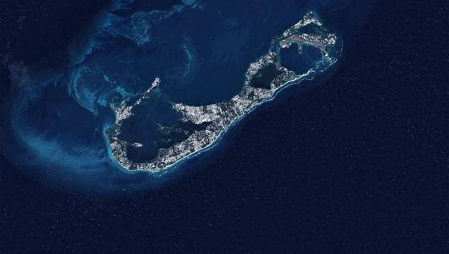 Die Bermudas auf einem Satellitenbild (Bild: U.S. Geological Survey)