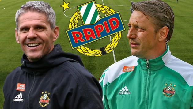 Dietmar Kühbauer und Zoran Barisic - die beiden sind Kumpel…. (Bild: GEPA)