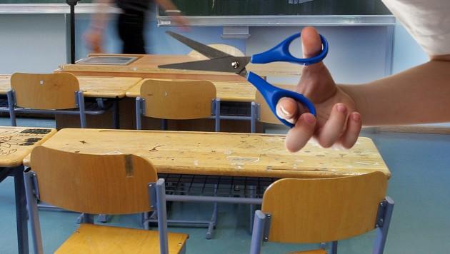 Schüler (12) bedrohte in NMS Lehrer mit Schere