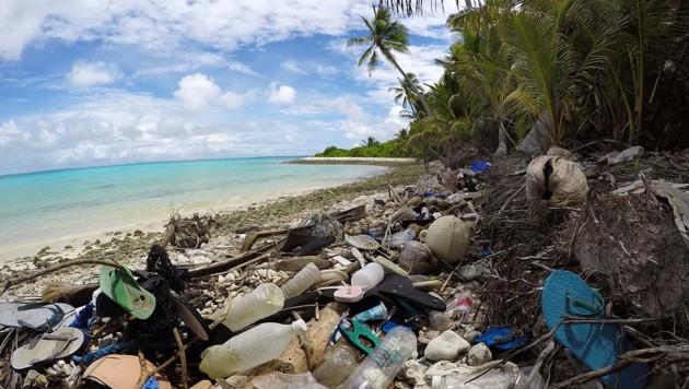 Plastikmüll auf den Kokosinseln (Bild: Jennifer Lavers)