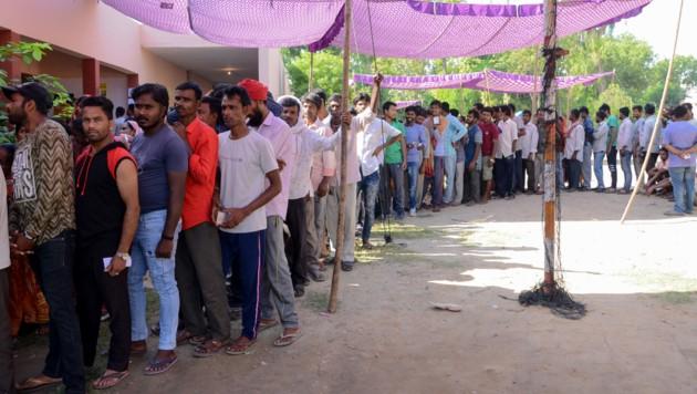 Nach knapp sechs Wochen ist Indiens Parlamentswahl zu Ende gegangen. Stimmberechtigt waren 900 Millionen Bürger. Die Auszählung wird noch einige Tage laufen. (Bild: AFP)