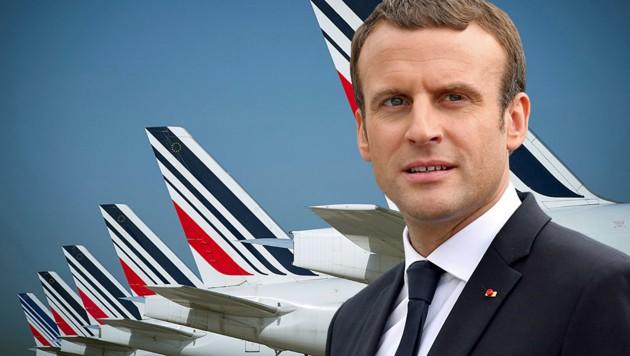 Frankreichs Präsident Emmanuel Macron heizt eine vor Jahren versandete Debatte wieder neu an. (Bild: AFP, krone.at-Grafik)