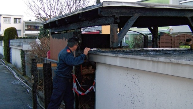 Im Jänner brannte eine Gartenhütte in der Karawankenblickstraße (Bild: Berufsfeuerwehr)