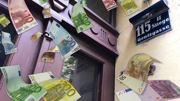 """Sitz des FPÖ-nahen Vereins """"Austria in Motion"""" (Bild: Wilhelm Eder, stock.adobe.com, krone.at-Grafik)"""