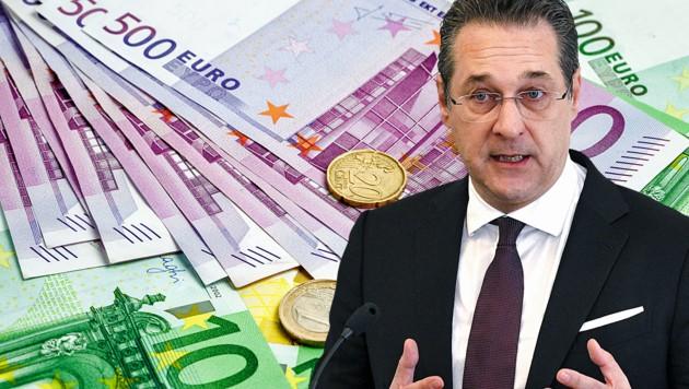Heinz-Christian Strache hat keinen Anspruch auf das sechsmonatige Arbeitslosengeld für Politiker. (Bild: stock.adobe.com, APA/HANS PUNZ, krone.at-Grafik)