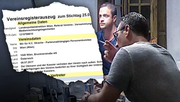 (Bild: BMI/Vereinsregister, Screenshot spiegel.de, krone.at-Grafik)