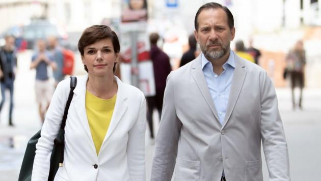 SPÖ-Chefin Pamela Rendi-Wagner und ihr Mann Michael Rendi (Bild: APA/GEORG HOCHMUTH)