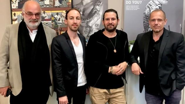 Thomas Kerbl, Wolfgang Heim, Pete Sabo, Gery Keszler (v. l.). (Bild: Lifeball)