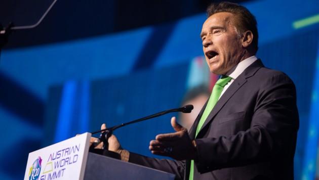 Arnold Schwarzenegger bei einer Rede in der Hofburg (Bild: APA/GEORG HOCHMUTH)