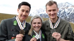 Kombinierer Mario Seidl, Skispringerin Chiara Hölzl und Superadler Daniel Huber gehören in der Saison 2019/20 dem Nationalteam an. (Bild: ANDREAS TROESTER)
