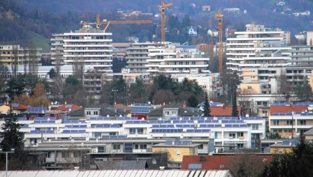 """Graz wurde in den letzten zwei Jahrzehnten stark verbaut - manche sagen, """"zubetoniert"""". (Bild: Jauschowetz Christian)"""