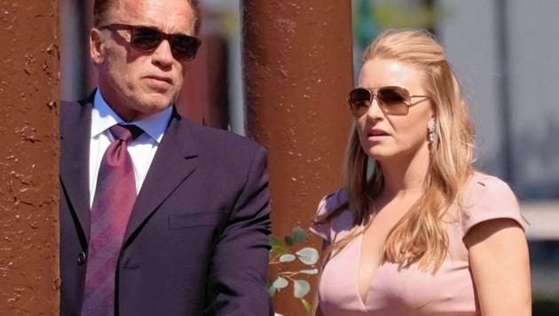 Arnold Schwarzenegger kam mit seiner Freundin Heather Milligan. (Bild: www.pps.at)