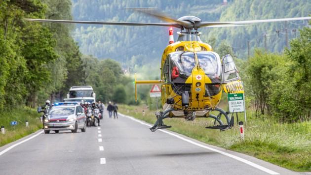 Der Rettungshubschrauber war im Einsatz (Symbolbild) (Bild: Brunner Images)