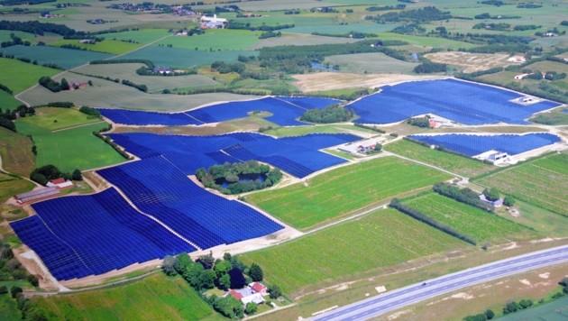 Riesen-Solarprojekt in Dänemark - ähnliches ist in der Steiermark geplant (Bild: Jauschowetz Christian)