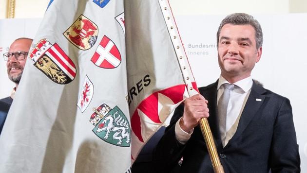 Innenminister Wolfgang Peschorn bei der offiziellen Amtsübergabe im Innenministerium (Bild: APA/GEORG HOCHMUTH)