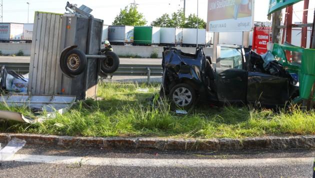 Der 63-jährige Lenker des Unfallwagens starb nun im Spital (Bild: laumat.at/Matthias Lauber)