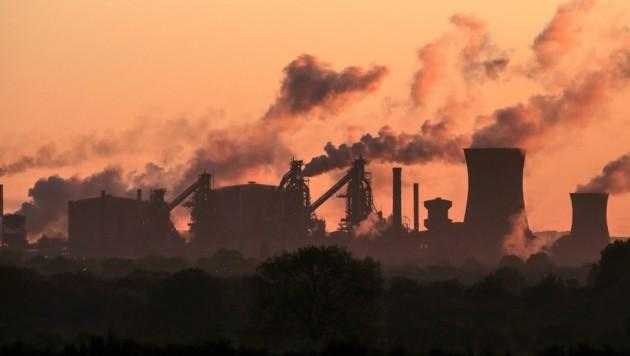In Scunthorpe steht das Stahlwerk von British Steel. (Bild: AFP)