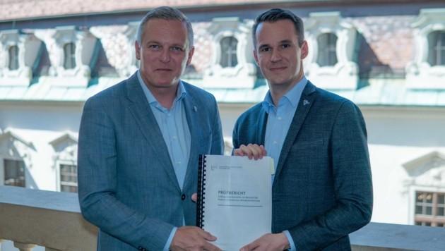 Mario Kunasek und Stefan Hermann (Bild: FPÖ Steiermark/Wallner)