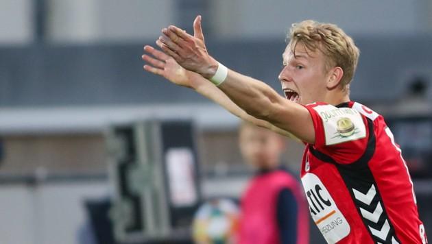 Marco Grüll schlug bei der SV Ried ein, wurde nach nur einer halbe Saison ins Zweite Liga-Team des Jahres gewählt. (Bild: Pressefoto Scharinger © Daniel Scharinger)