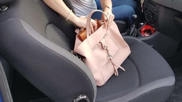 Viele Damen lassen auch regelmäßig ihre Handtschen im Auto zurück. (Bild: Serina Babka)