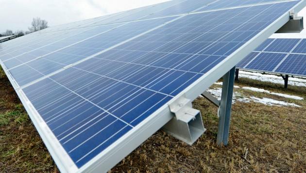 Der massive Ausbau von Photovoltaik-Anlagen ist auch eines der Ziele der Regierung (Bild: APA/HANS KLAUS TECHT (Symbolbild))