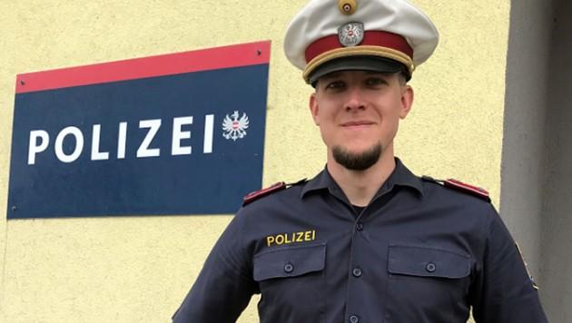 Revierinspektor Andreas Richter von der Polizeiinspektion Korneuburg wurde zum Lebensretter. (Bild: LPD NÖ)