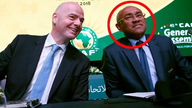 FIFA-Boss Gianni Infantino und sein Vize Ahmad Ahmad (Bild: Associated Press)