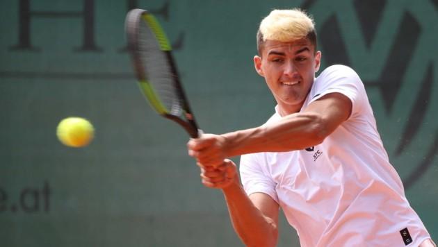 Alex Erler verlor zwar sein Einzel, sicherte dem STC im Doppel mit Vit Kopriva aber den entscheidenden siebenten Punkt. (Bild: GEPA pictures)