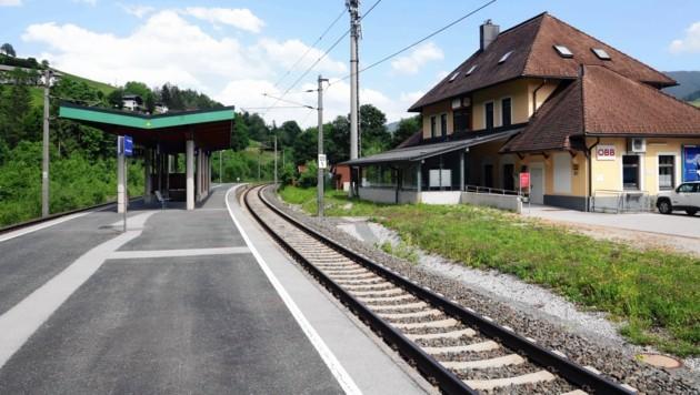 Bahnhof in Leogang (Bild: Roland Hölzl)