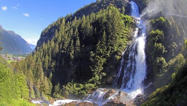 Der Stuibenfall in Tirol landete mit 7886 Beiträgen auf dem dritten Platz im Ranking. (Bild: Ötztal Tourismus)
