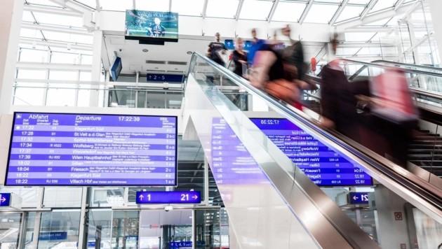 Besonders viele Pendler kommen am Bahnhof in Klagenfurt an (Bild: ÖBB/Daniel Waschnig)
