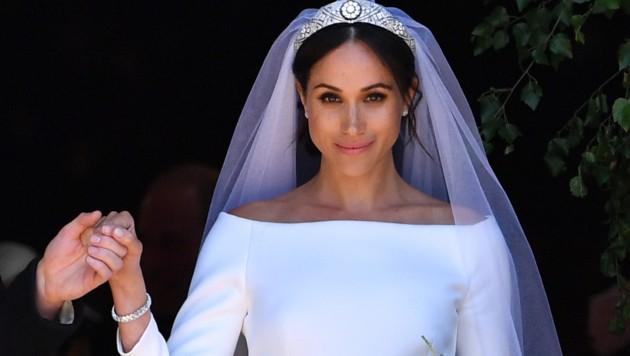 Herzogin Meghan bei ihrer Hochzeit mit Prinz Harry im Mai 2018 (Bild: AFP and licensors)