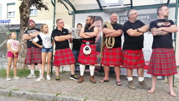 Die starken Männer des Royal Highland Club Obertrum am See (Bild: Royal Highland Club)
